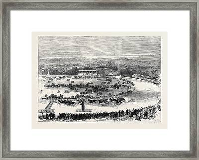 Cork Park Races The Grand National Steeplechase 1869 Framed Print by English School