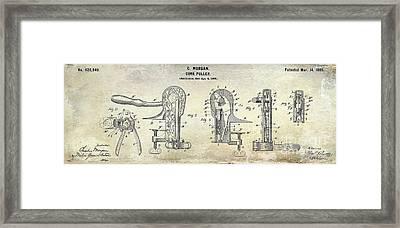 Cork Puller Patent 1899 Framed Print by Jon Neidert
