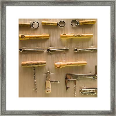 Cork Screw Collection St Helena Napa California Dsc1712 Square Framed Print