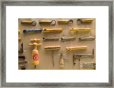 Cork Screw Collection St Helena Napa California Dsc1712 Framed Print