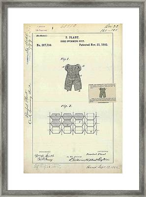 Cork Swimming Suit Patent Framed Print by Us Patent And Trademark Office