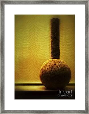 Cork Vase Framed Print