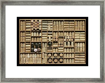 Corked And Uncorked Framed Print