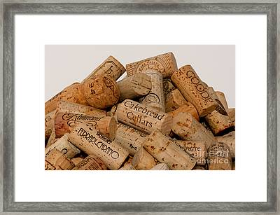 Framed Print featuring the photograph Corks - 11 by Vinnie Oakes