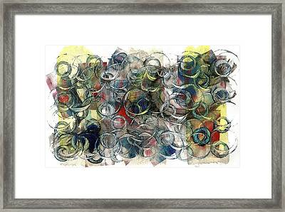 Corks And Bottlecaps Framed Print by Lesley Fletcher