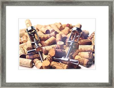 Corks And Corkscrews  Framed Print by Stefano Senise