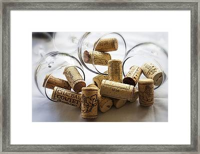 Corks And Glasses Framed Print by Georgia Fowler