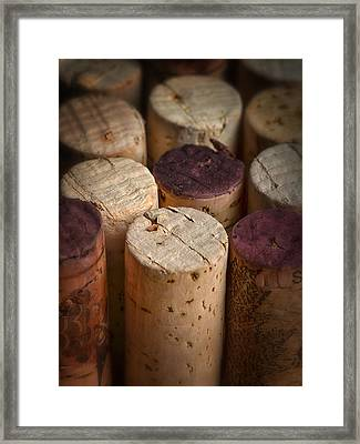 Corks Framed Print by Dennis James