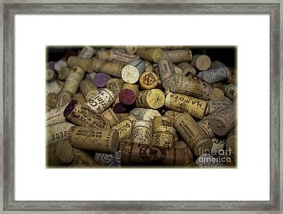 Corks Framed Print by Patricia Hofmeester