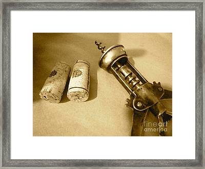 Corkscrew Duet Framed Print by Cathy Dee Janes