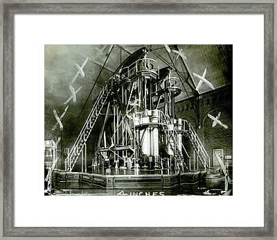 Corliss Exhibition Steam Engine Framed Print
