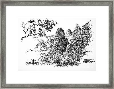 Cormoran Fishing Framed Print