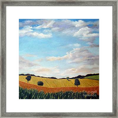 Corn And Wheat - Landscape Framed Print