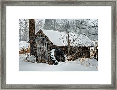 Corn Crib Framed Print