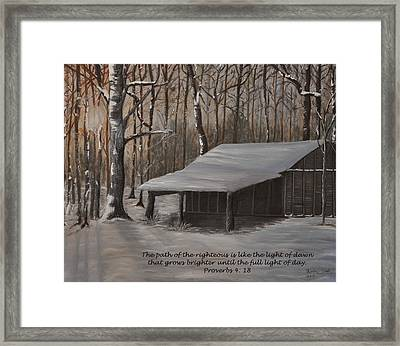 Corn Crib - Proverbs  Framed Print