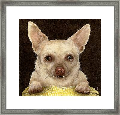 Corn Dog... Framed Print
