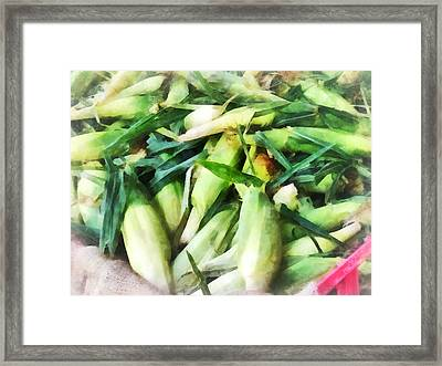Corn For Sale Framed Print by Susan Savad