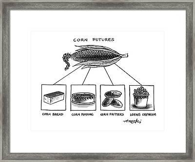 Corn Furures Framed Print by Henry Martin