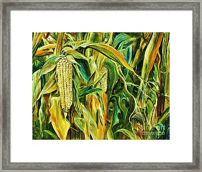 Spirit Of The Corn Framed Print