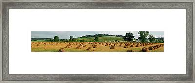 Corn Shocks, Amish Country, Ohio, Usa Framed Print by Panoramic Images