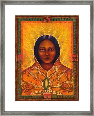 Corn Woman Framed Print