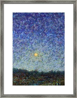 Cornbread Moon Framed Print by James W Johnson