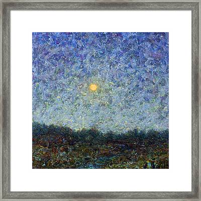 Cornbread Moon - Square Framed Print by James W Johnson