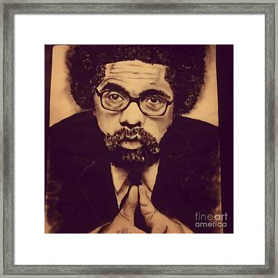 Cornel West Framed Print by Miss Kitoko
