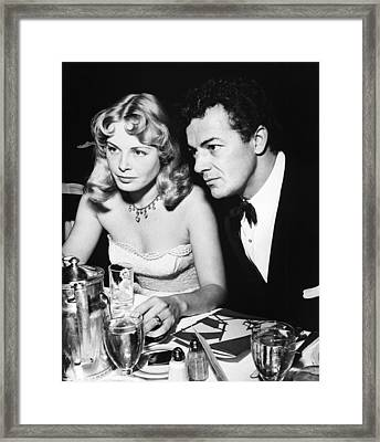 Cornel Wilde, Right, With His Second Framed Print by Everett