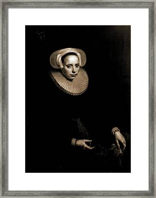 Cornelia Bruinzeels, Seated, Three-quarter Length Portrait Framed Print
