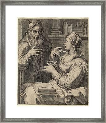 Cornelis Jacobsz Drebbel After Hendrik Goltzius Framed Print by Quint Lox