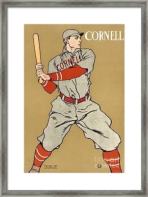 Cornell Baseball 1908 Framed Print by Padre Art