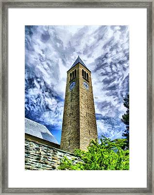 Cornell Clock Tower  Framed Print