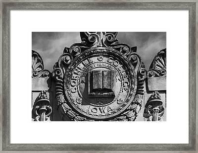 Cornell College Seal Framed Print by University Icons