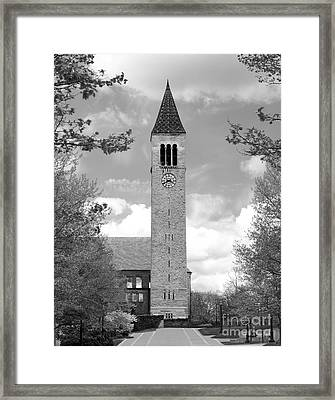 Cornell University Mc Graw Tower Framed Print by University Icons