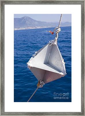 Corner-cube Radar Reflector On Boat Framed Print by Mark Williamson