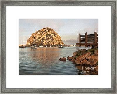 Corner Harbor Framed Print