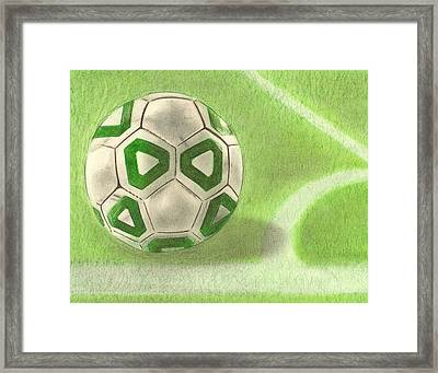 Corner Kick Framed Print by Troy Levesque