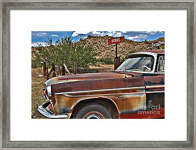 Framed Print featuring the photograph Corner Of Brake And Burmashave by Lee Craig