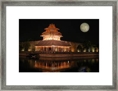 Framed Print featuring the photograph Corner Of Forbidden City by Yue Wang