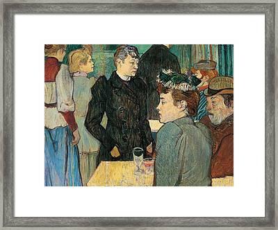 Corner Of Moulin De La Galette Framed Print by Henri de Toulouse Lautrec
