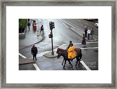 Corner Of Post And Powell Framed Print