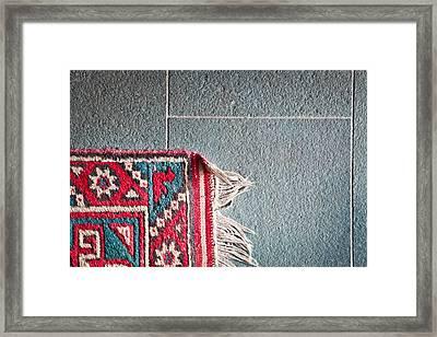 Corner Of Rug Framed Print