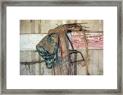 Corner Of The Barn Framed Print by Jeff Tuten