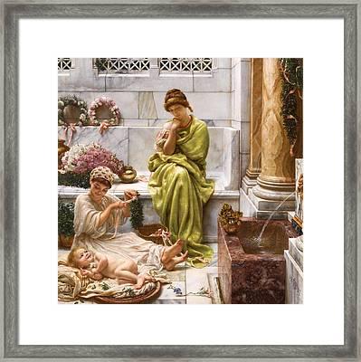 Corner Of The Marketplace Framed Print by Edward John Poynter