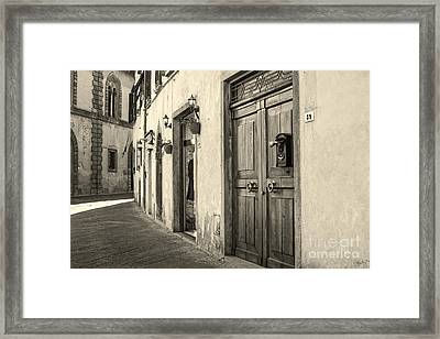 Corner Of Volterra Framed Print