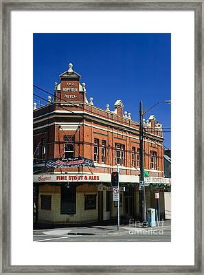 Corner Pub Framed Print by David Hill