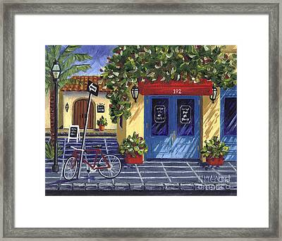 Framed Print featuring the painting Corner Store by Val Miller