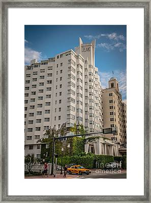 Corner View Of Delano Hotel And National Hotel - South Beach - Miami - Florida - Hdr Style Framed Print by Ian Monk