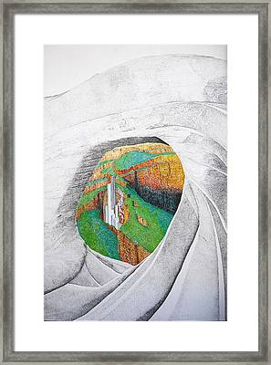 Cornered Stones Framed Print